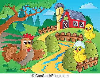 農場, 主題, 鶏, めんどり