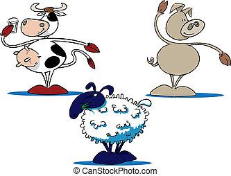農場, 共通, 漫画, 動物, 3