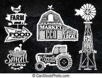農場, 型, チョーク