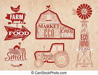 農場, 型, 赤
