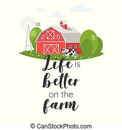 農場, 服装, スローガン, デザイン