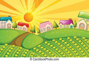 農場, 村