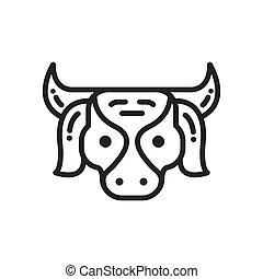 農場, 牛, アイコン