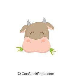農場, 牛, 動物