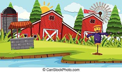 農場, 現場, 赤い納屋