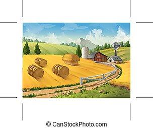 農場, 田園 景色
