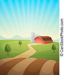 農場, 風景