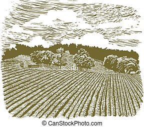農場, 60, 木版, ハイウェー