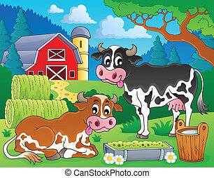 農場, 8, 主題, 動物, イメージ