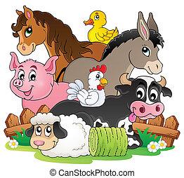 農場, topic, イメージ, 2, 動物