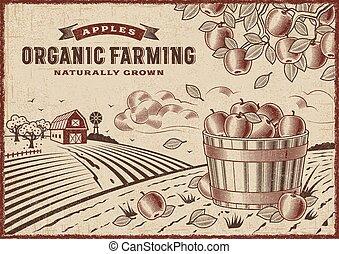 農業, 有機体である, アップル, 風景