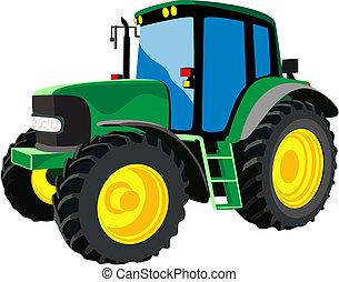 農業, 緑, トラクター
