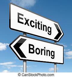 退屈すること, concept., 刺激, ∥あるいは∥