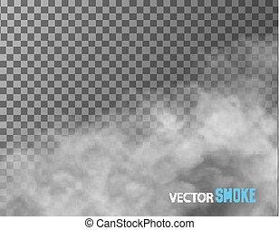 透明, ベクトル, バックグラウンド。, 煙