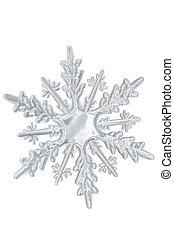 透明, 冬, snowflake.