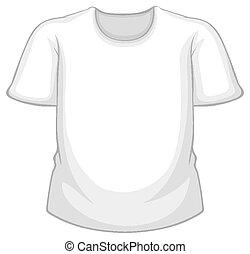 透明, 白, ブランク, 隔離された, tシャツ, 背景