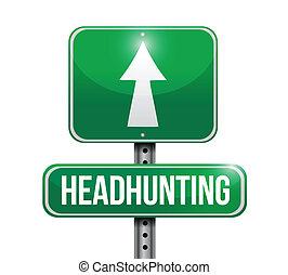 通り, headhunting, イラスト, 印