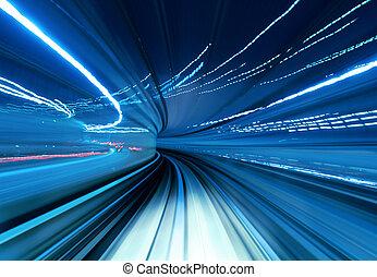 速い, 引っ越し, トンネル, 列車