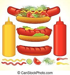速い, hotdog