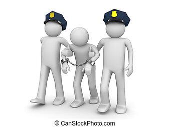 逮捕された, 不法としなさい, -, 法的, コレクション