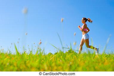 運動, 女, 運動
