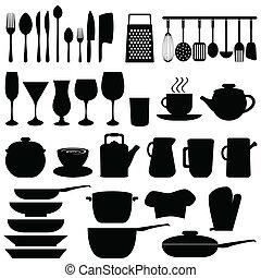 道具, オブジェクト, 台所
