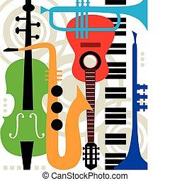 道具, 抽象的, ベクトル, 音楽