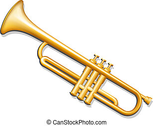 道具, 真ちゅう, ミュージカル, 風, trumpet.
