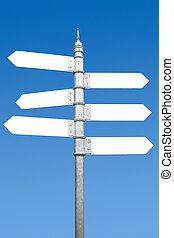 道標, 6, text., スペース, 方法, ブランク, multidirectional