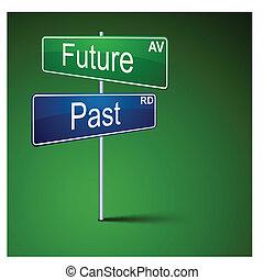 道, 方向, 印。, 未来, を過ぎて