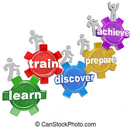 達成しなさい, ゴール, 人々, 列車, シリーズ, 発見しなさい, 練習, の上, マーク付き, ∥あるいは∥, 生徒, ギヤ, それぞれ, 代表団, いくつか, 学びなさい, 上昇, 目的を達しなさい, ギヤ