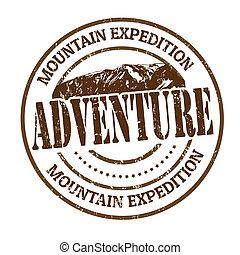 遠征隊, 山, 冒険, 切手