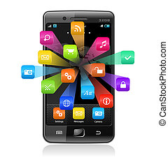 適用, touchscreen, smartphone, アイコン