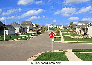 郊外, 下位区分, 住宅の, 家, 新しい