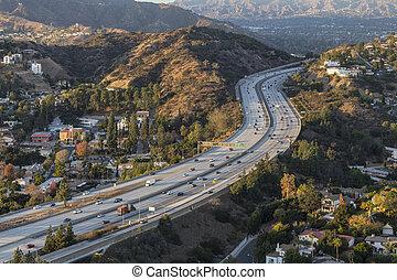 郡, 高速道路, アンジェルという名前の人たち, los, カリフォルニア, glendale