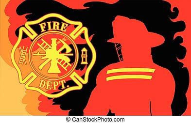 部門, 消防士, 火