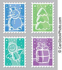 郵便切手, クリスマス