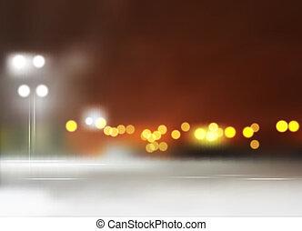 都市の景観, ベクトル, 夜