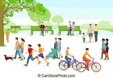 都市人々, park.eps, レジャー