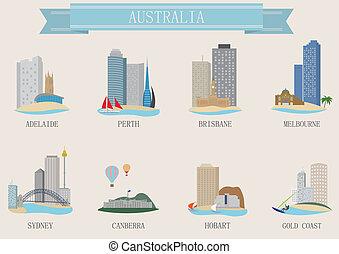 都市, オーストラリア, シンボル。