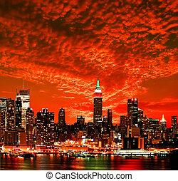 都市 スカイライン, ヨーク, 新しい, midtown