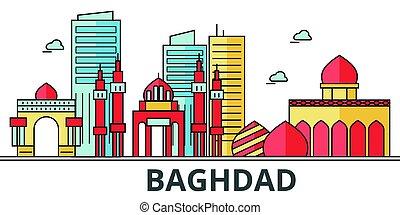 都市, バグダッド, skyline.