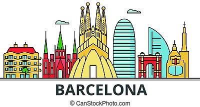 都市, バルセロナ, skyline.