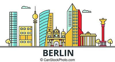 都市, ベルリン, skyline.