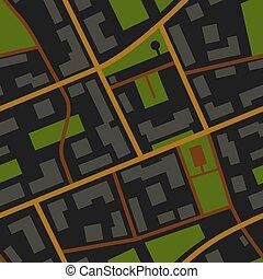 都市 地図, 光景, パターン, 夜