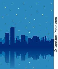 都市, 夜
