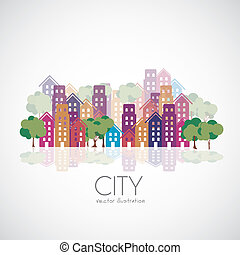 都市, 建物, シルエット