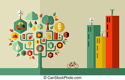 都市, 概念, 緑