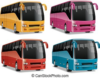 都市, 現代, 快適である, バス