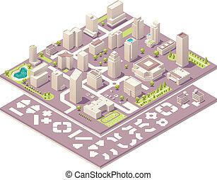 都市, 等大, 作成, 地図, キット